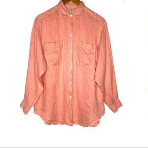 Banana Republic Safari Linen Button Shirt Pink M